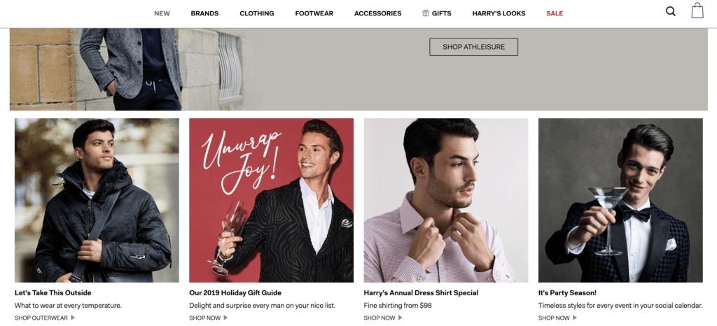 harry rosen website