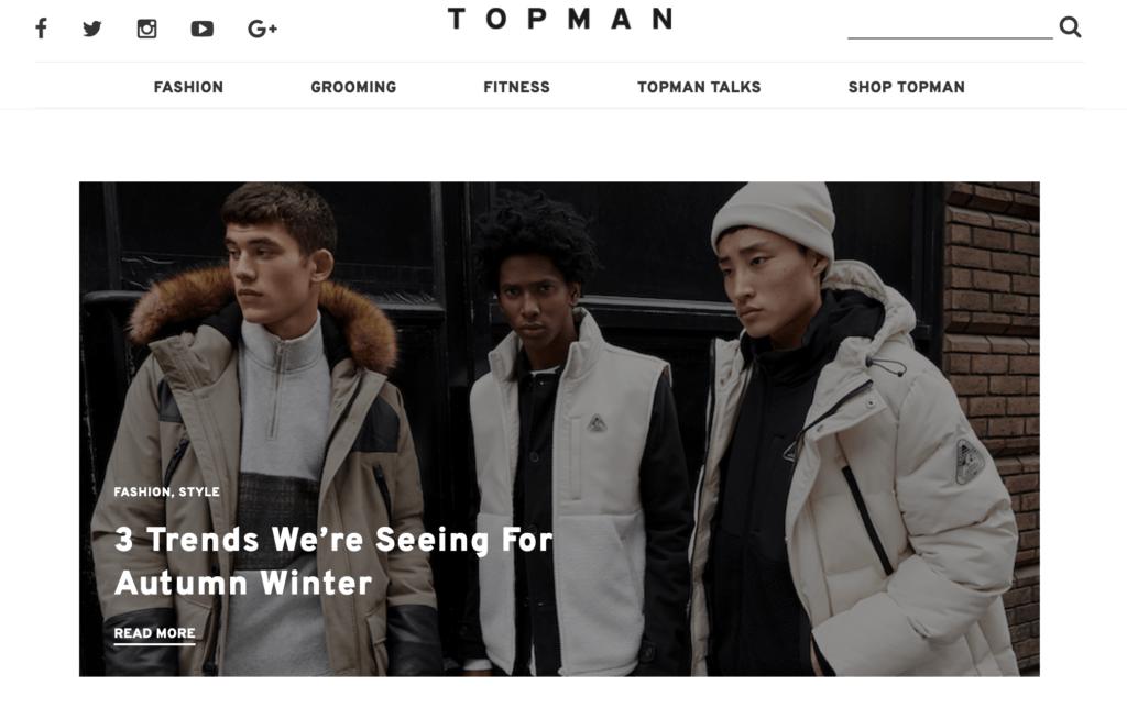 topman fashion website