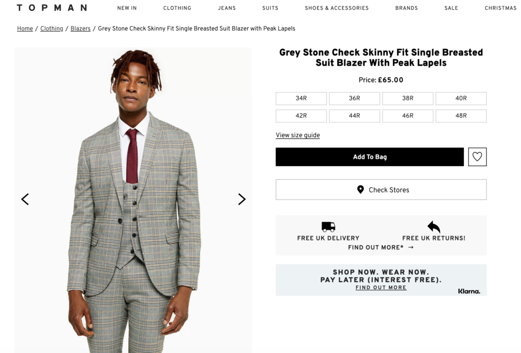 topman product page
